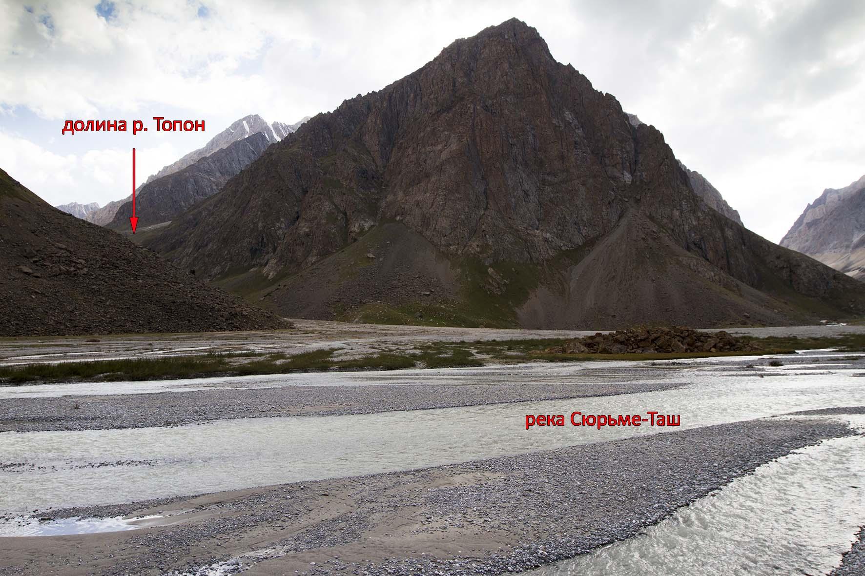 разливы на р. Сюрьме-Таш в месте слияния с р. Топон