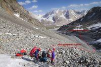 вид от лед Кунгур в долину р.Кунгур