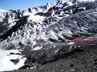 Вид с боковой морены на вторую ступень ледника Беседина
