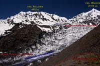 Возможный путь обхода первой и второй ступеней ледника Беседина