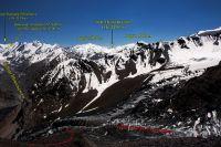 Панорамный вид на первую ступень лед. Беседина