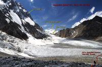 Вид с ледника Джигит на пер. Онтор